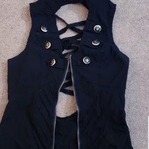 Tops - Black zip up top